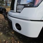 White spray on bedliner on bumper Edmonton Alberta