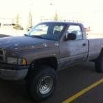 Edmonton truck coated in bedliner