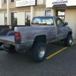 Bedliner coated truck at Armaguard Edmonton